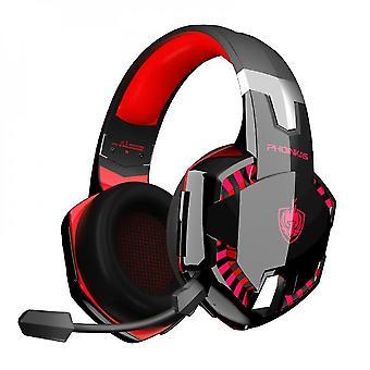 Trådløs Bluetooth-hovedtelefon med mikrofon (rød)