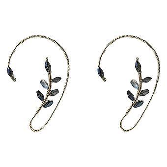 1 pari Vintage Korvakalvosin korvakorut Tyylikäs Crystal Pearl Design korvakorut naisille ja tytöille