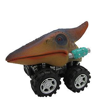 Tyrannosaurus Rex Inertia Car 4wd Buggy Small Model Toys Abs Material6cm