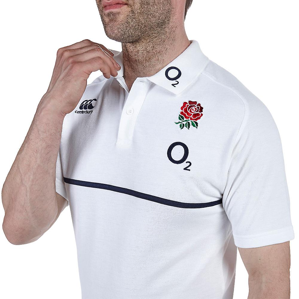 CCC England Rugby Cotton Training Polo [White]