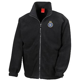 HMS Zealous Embroidered Logo - Official Royal Navy Full Zip Fleece