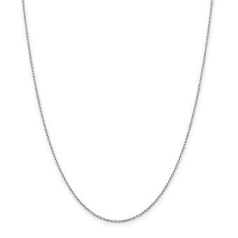 925 Sterling Silver 1.25mm kabelkedja halsband smycken gåvor för kvinnor - Längd: 16 till 36