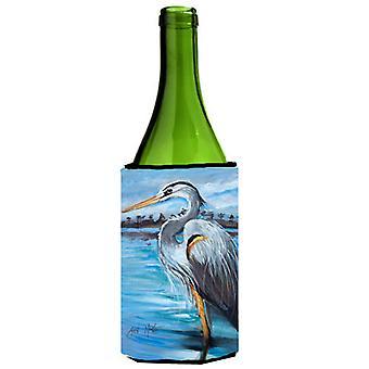 Blue Heron Gazing Wine Bottle Beverage Insulator Hugger