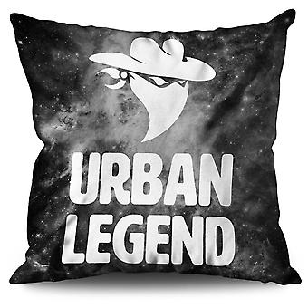 Urban Legend Bandit Linen Cushion 30cm x 30cm | Wellcoda