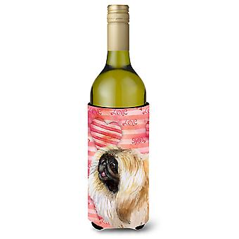 Pekingese Love Wine Bottle Beverge Insulator Hugger