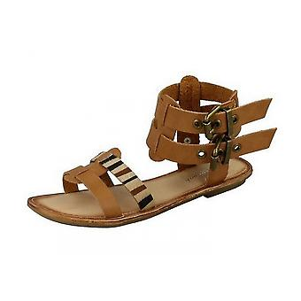 Savannah Womens/Ladies Low Gladiator Sandals With Double Buckle Ankle Strap