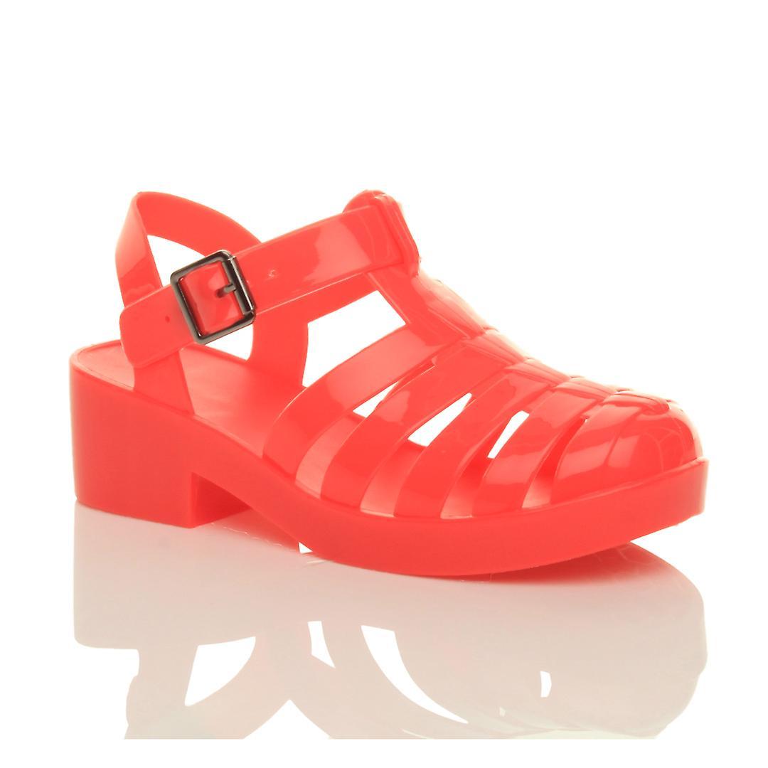 Dziewczyny Ajvani połowie bloku pięty gladiator gumy galaretki gladiator wyciąć sandały retro z lat 90-tych 59TOd