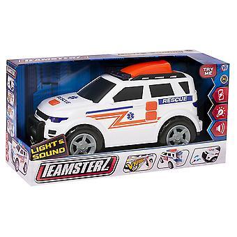 Teamsterz luz e som ambulância veículo brinquedo, 4 x 4