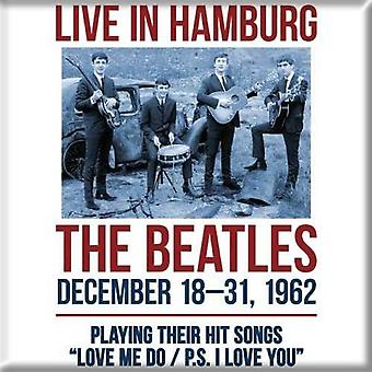 The Beatles Fridge Magnet 1962 Hamburg new Official 76mm x 76mm