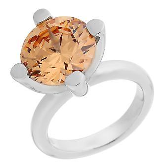 Orphelia srebro 925 pierścień szampana cyrkonu ZR-3353/3