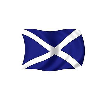 Schotland/St Andrews vlag 5 ft x 3 ft met oogjes voor verkeerd-om