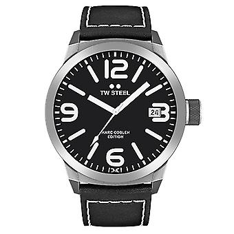 TW aço Black watch pulseira de couro do Marc Coblen edição TWMC54 pulso relógio