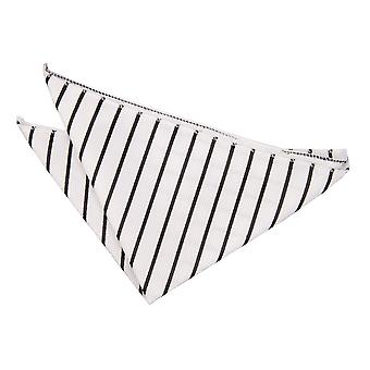 Bianco & nero singolo striscia tasca quadrato