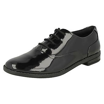 Mädchen-Clarks schnüren Brogue Schule Schuhe Drew Star