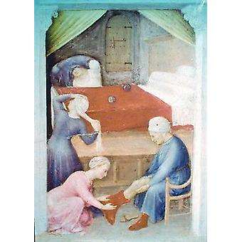 St. Nicholas and the Three Poor Maidens,.. - Tea Towel 100% Cotton - Art247