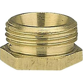 GARDENA 7270-20 Brass Reducer nipple 26.44 mm (3/4) OT, 18.7 mm (1/2) IT