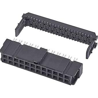 TE Connectivity Socket nauhat yhteystiedot välistys: 2.54 mm nastat määrä: 40 No. rivien: 2 1 PCs()