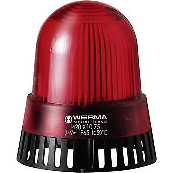 Werma Signaltechnik Combo -sounder LED 420.110.68 Punainen non-stop-merkkivalo 230 V AC 92 dB