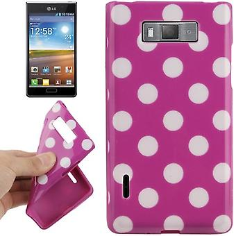 Protective case TPU points of case for mobile LG Optimus L7 / E705