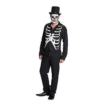 Kamizelka szkieletowych żebra vest kamizelka skeleton Halloween kostium dla mężczyzn