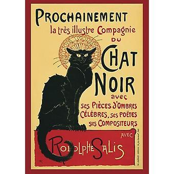 Le Chat Noir Poster Steinlen 91.5 x 61 cm