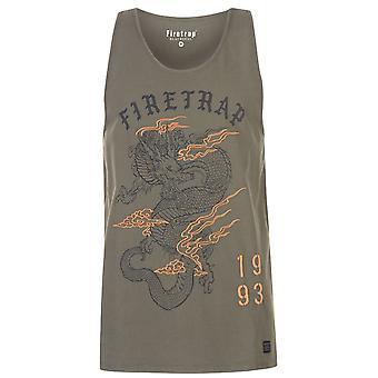 Firetrap Mens Dragon väst muskel linne