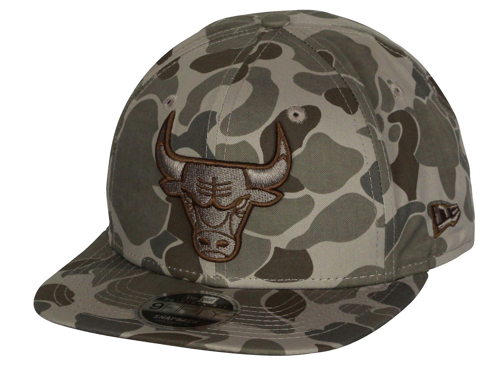 New Era Camo 9Fifty Cap ~ Chicago Bulls