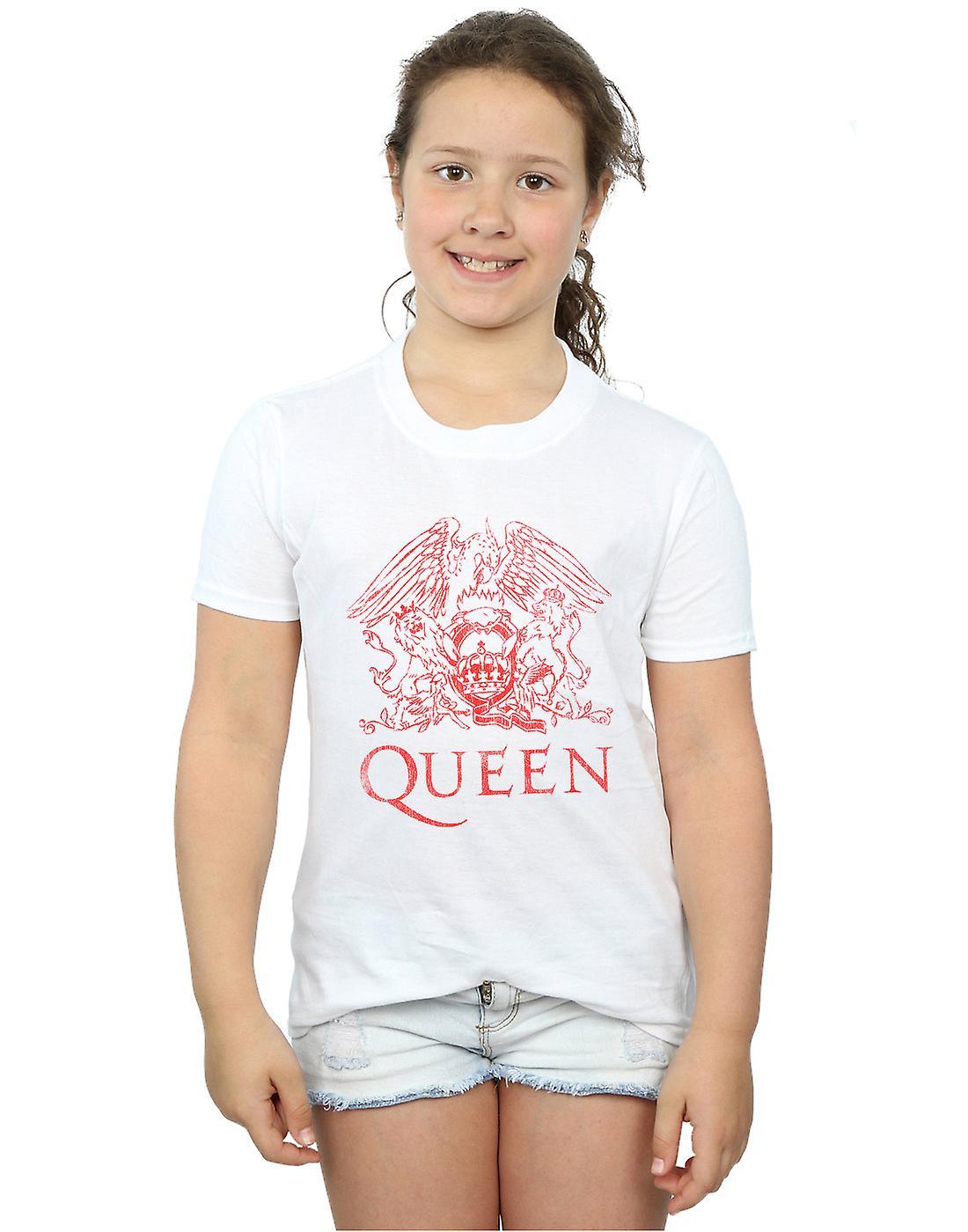 Queen Girls Distressed Crest T-Shirt