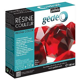 Resina de color de Gedeo de Pebeo 150ml (rubí)