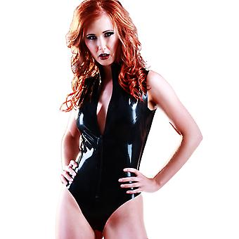 Skin Two Clothing Women's Sleeveless Bodysuit Latex Rubber Outfit