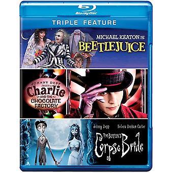Beetlejuice/Charlie & the Chocolate Factory/Corpse [BLU-RAY] USA import