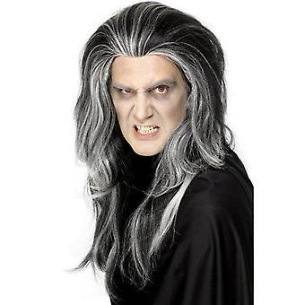 Long Black Wavy Wig, Gothic Vampire Wig. Halloween