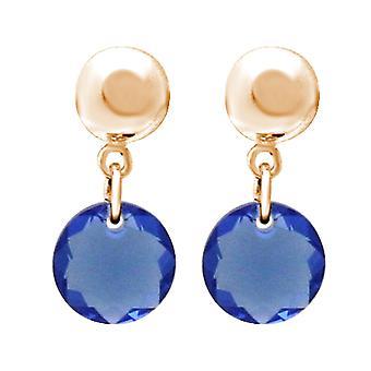 Gemshine Damen Ohrringe mit SWAROVSKI ELEMENTS. 925 Silber oder vergoldet - Blau