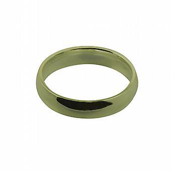 Oro de 18 quilates liso 5mm que corte en forma de anillo de boda tamaño Z