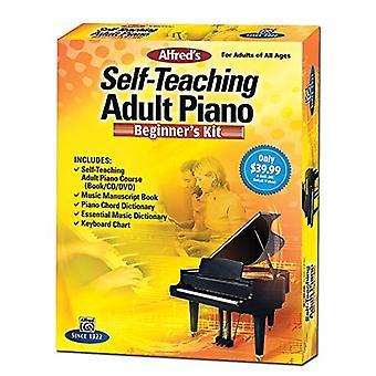Alfreds selvstudium voksen Piano nybegynners Kit [med CD (lyd), DVD og ordbok]