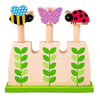 Bigjigs Toys Wooden Garden Pop Up Game Playset