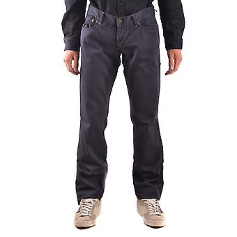 John Richmond Ezbc082069 Men's Blue Cotton Jeans