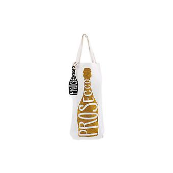 CGB Giftware Lets Party Prosecco Glitter Bottle Bag