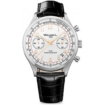 William L. mens vintage style chronograph WLAC01BCORCN