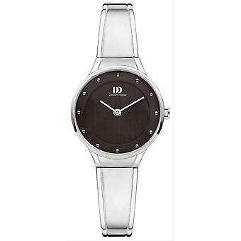 Dansk design chic Anthea Watch-sølv/sort