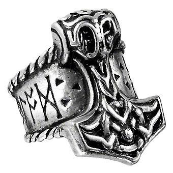 Alchemy Gothic Thor Runehammer cyny pierścień