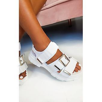 IKRUSH Womens Tessi Chunky Buckle Sandals