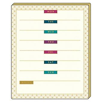 Artfile Chic Jewel Weekly Planner Tear Off Pad