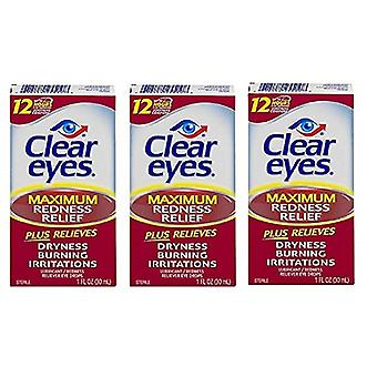 Klare Augen Maximum Redness Relief Eye Drops 3 Pack