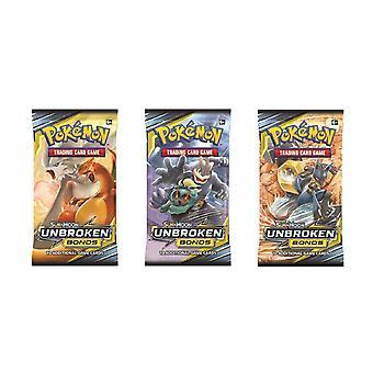 Pokemon-Sun e Lua 10 Títulos Ininterrupto Pack jogo de cartas 3-Pack