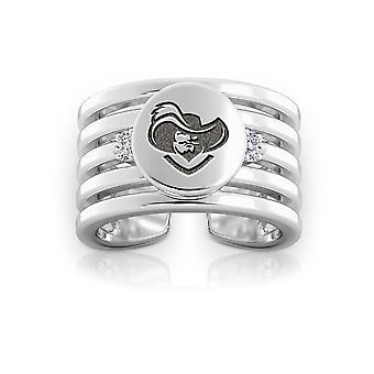 Xavier University Diamond Ring in Sterling Zilver ontwerp door BIXLER