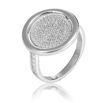Orphelia Silber 925 Ring Reversible mit Blume und Zirkonium ZR-7444