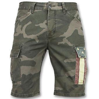 Kamuflasje shorts - Bermuda bukser - 9017 - grønn grå