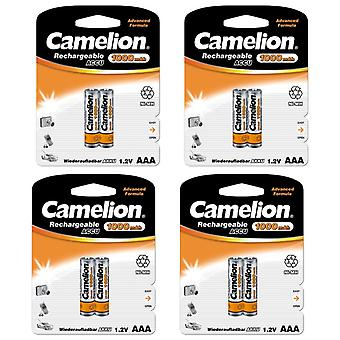 8x Camelion batteries rechargeables AAA NiMH 1000mAh batterie