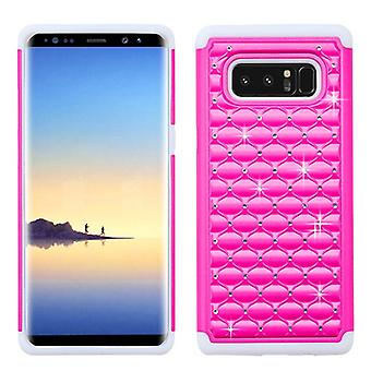 ASMYNA Hot Pink/Solid White FullStar Protector Cover pour Galaxy Note 8